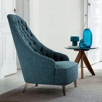 Original design armchair / fabric / swivel