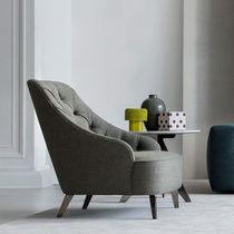 Contemporary armchair / fabric / swivel