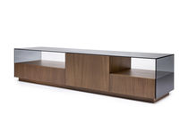 Contemporary television cabinet / custom / for hotel rooms / solid wood