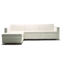Sofa bed / modular / contemporary / leather