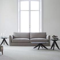 Contemporary sofa / velvet / linen / 4-seater
