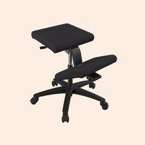 Fabric task stool / on casters / upholstered / adjustable-height