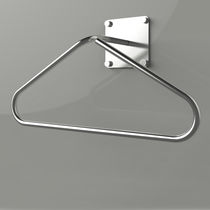 Wall-mounted valet stand / contemporary / stainless steel