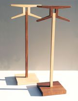 Floor-standing valet stand / contemporary / wooden