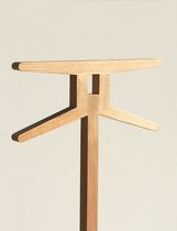 Floor-standing valet stand / contemporary / wooden / marble