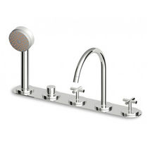 5 hole bath-tub double handle mixer tap ISY - ZD3460 ZUCCHETTI RUBINETTERIA
