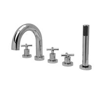 5 hole bath-tub double handle mixer tap MATRIX : 8200500 Grifer&iacute;as Galindo