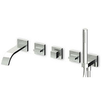 5 hole wall-mounted double handle mixer tap for bath-tub AGUABLU - ZA5745 - R99505 ZUCCHETTI RUBINETTERIA
