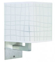Contemporary wall light / PVC / chrome / square