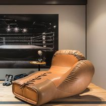 Original design daybed / leather / indoor