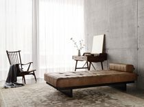 Contemporary day-bed / leather / living room