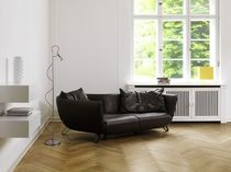 Semicircular sofa / contemporary / leather / 2-seater