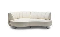Semicircular sofa / modular / contemporary / leather