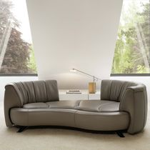 Semicircular sofa / modular / contemporary / leather