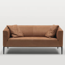 Contemporary sofa / leather / fabric / commercial