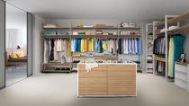 Contemporary walk-in wardrobe / wood
