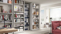 Wall-mounted bookcase / contemporary / wood