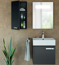 Wall-hung washbasin cabinet / MDF / contemporary