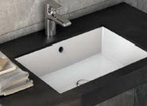 Built-in washbasin / oval / contemporary / with counter