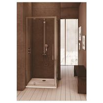 Pivoting shower screen / rectangular / glass