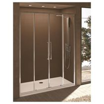 Sliding shower screen / for alcove / glass