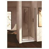 Folding shower screen / for alcove / glass