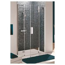 Glass shower / rectangular / with pivot door