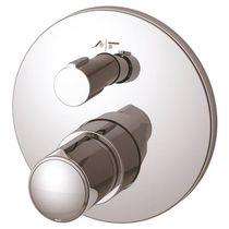 Bathtub mixer tap / built-in / chromed metal / bathroom