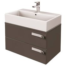 MDF washbasin cabinet / contemporary / with integrated cupboards