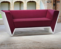Contemporary sofa / wenge / fabric / 2-seater