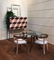 Contemporary bar cabinet / ebony / maple / ash