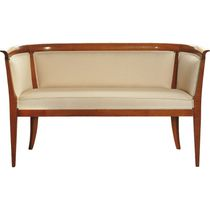Directoire style sofa / cherrywood / fabric / 2-seater