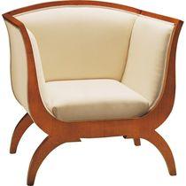 Biedermeier style armchair / fabric / cherrywood