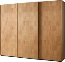 Contemporary wardrobe / wooden / sliding door / mirrored