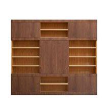 Contemporary bookcase / oak / walnut / maple