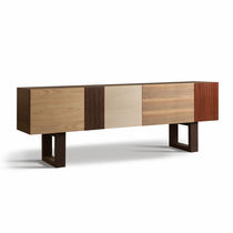 Contemporary sideboard / walnut / cherrywood / maple
