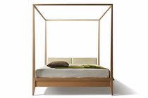 Canopy bed / double / contemporary / cherrywood