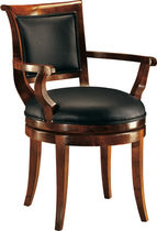 Traditional chair / cherrywood / leather / swivel