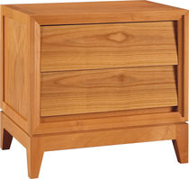 Contemporary bedside table / cherrywood / rectangular