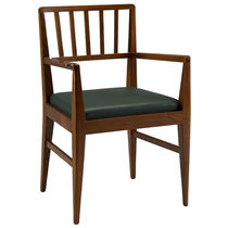 Traditional chair / cherrywood / fabric / upholstered