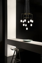 Contemporary chandelier / glass / LED / halogen