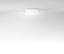 Contemporary wall light / glass / white