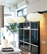 Pendant lamp / contemporary / glass / blown glass