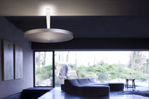 Contemporary ceiling light / round / aluminum / polyethylene
