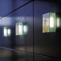 Contemporary wall light / glass / fluorescent / rectangular