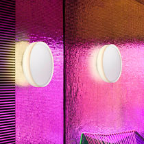 Contemporary wall light / glass / LED / fluorescent