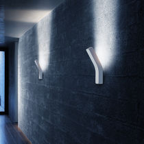 Contemporary wall light / blown glass / aluminum / thermoplastic