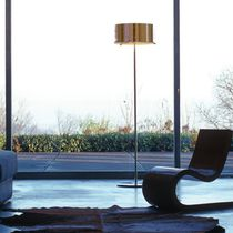 Floor-standing lamp / contemporary / glass / white