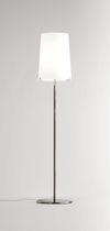 Floor-standing lamp / contemporary / blown glass / white