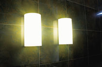 Contemporary wall light / glass / blown glass / metal